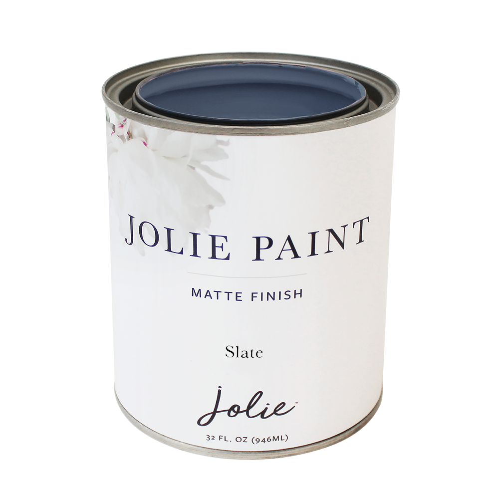 Jolie Paint SLATE mid-tone blue Chalk Paint Traditional European Industrial Farmhouse Inspired