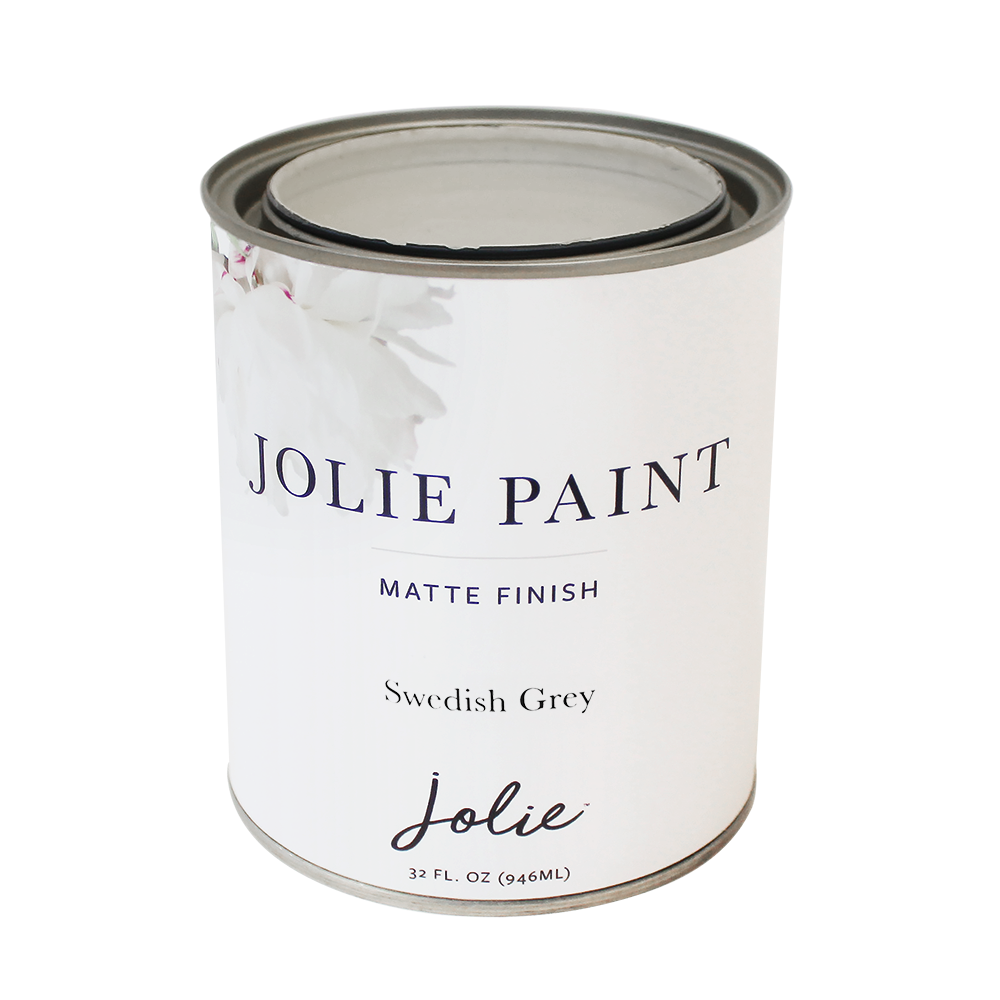 Jolie Paint SWEDISH GREY Chalk Paint Swedish Gustavian Jolie Signature Neutrals Collection Farmhouse Inspired
