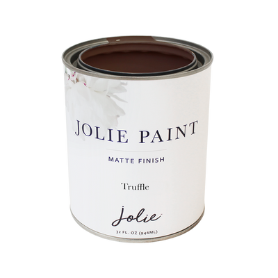 Jolie Paint TRUFFLE mid-tone brown Chalk Paint Farmhouse Inspired