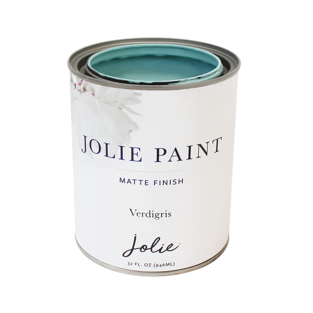 Jolie Paint VERDIGRIS Chalk Paint copper patina Boho European Farmhouse Inspired