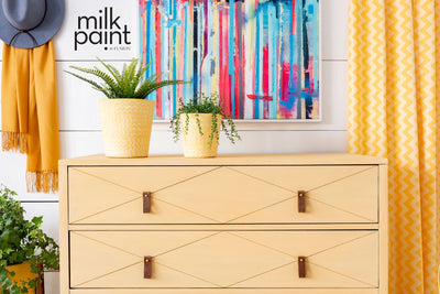 Milk Paint by Fusion Modern Yellow Painted Chest Farmhouse Inspired