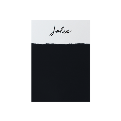 Jolie Paint NOIR classic jet black Chalk Paint Jolie Signature Neutrals Collection modern Farmhouse Inspired