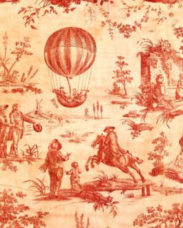 RedToile Vintage Red Sepia Toile Roycyled Treasures Decoupage Paper FarmhouseInspired.com
