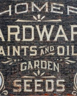Roycycled papers Hardware sign brick garden seeds home paints and oils decoupage paper Farmhouse Inspired