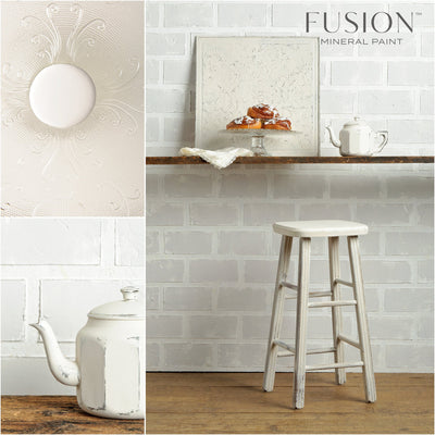 Stool painted Champlain - DIY Fusion Mineral Paint - Farmhouse Inspired