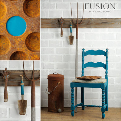 Chair in Renfrew Blue - DIY Fusion Mineral Paint - Farmhouse Inspired