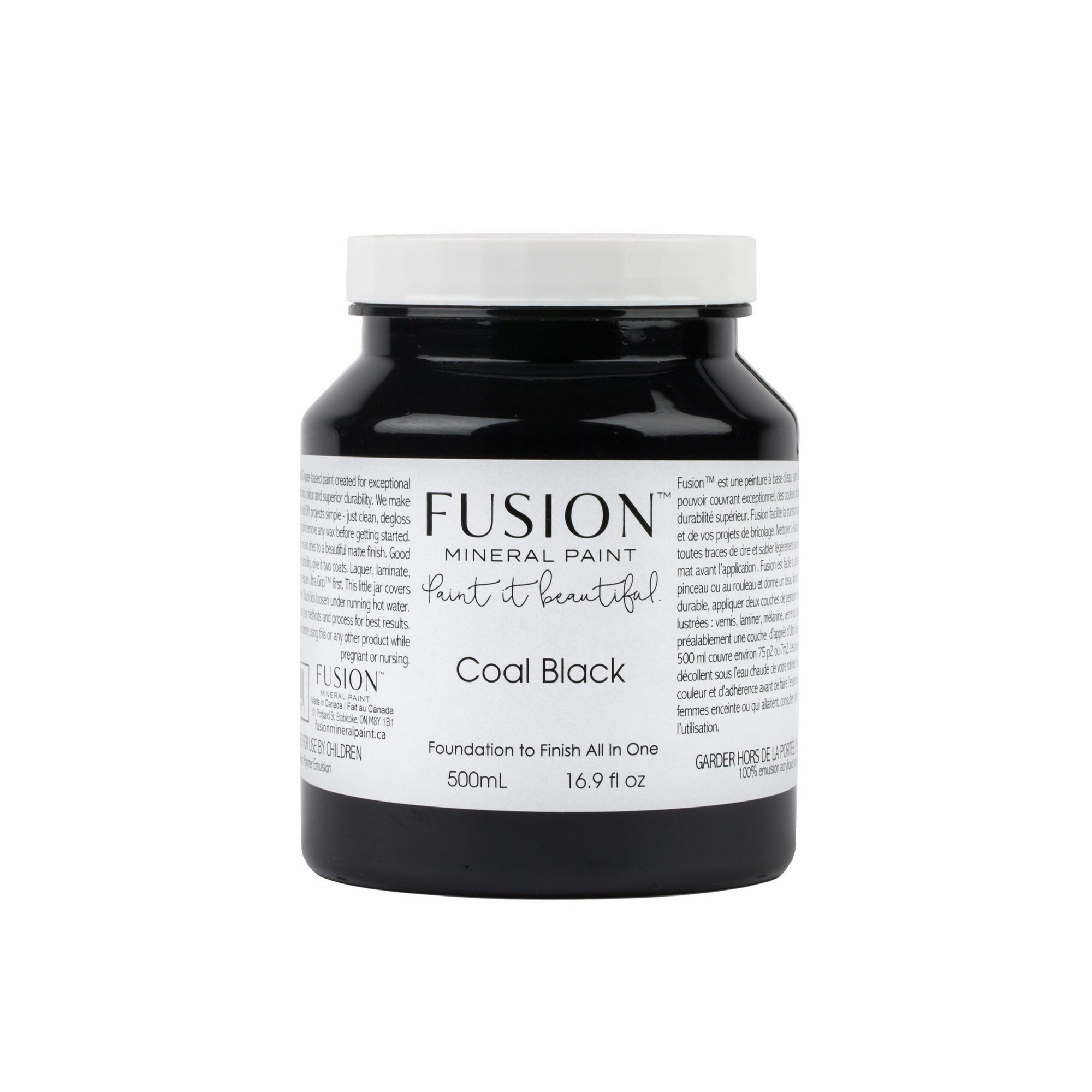 Fusion Mineral Paint Coal Black - Farmhouse Inspired