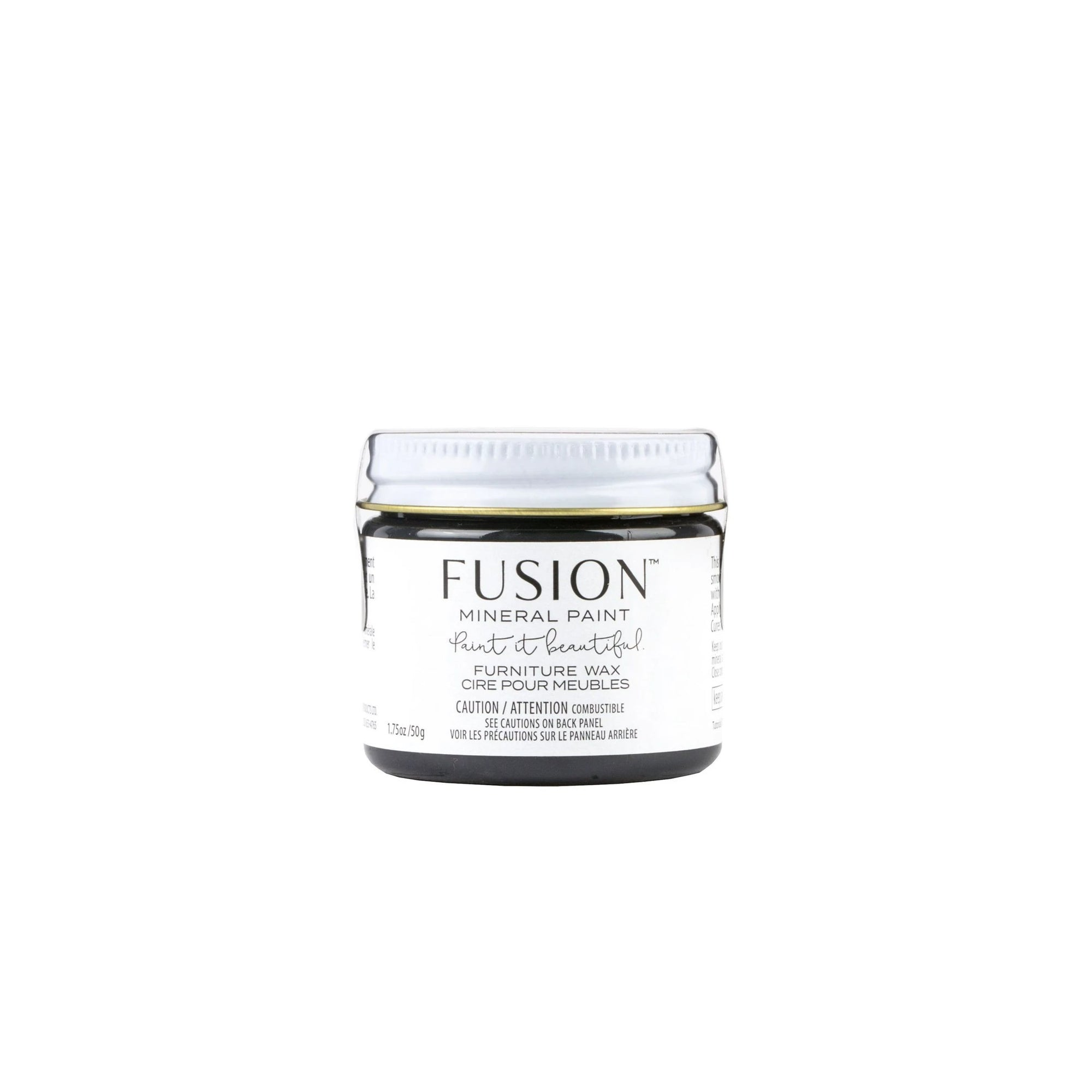 Fusion Mineral Paint Black Furniture Wax