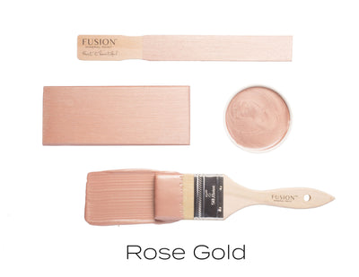 Rose Gold Metallic Paint - DIY Fusion Mineral Paint - Farmhouse Inspired