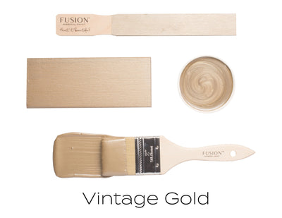 Vintage Gold Metallic Paint - DIY Fusion Mineral Paint - Farmhouse Inspired