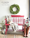 Bench in Cranberry - DIY Fusion Mineral Paint - Farmhouse Inspired