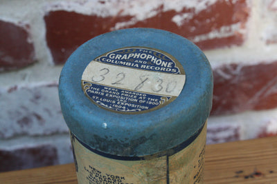 Columbia Phonograph Cylinder/ Antique Film Canister