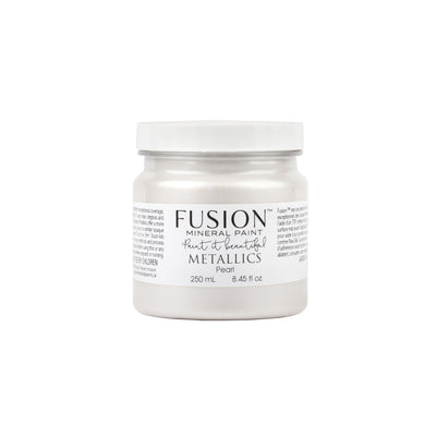 fusion mineral paint farmhouse inspired metallic pearl
