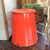 Red Enamel Dust Bin with lid