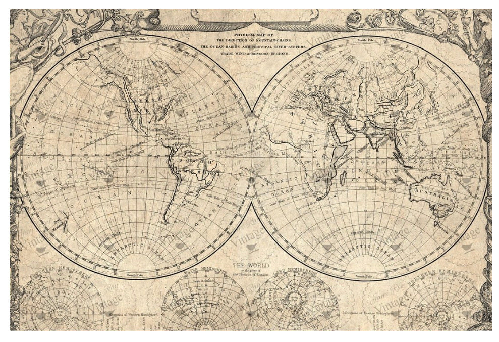 World Map Paper