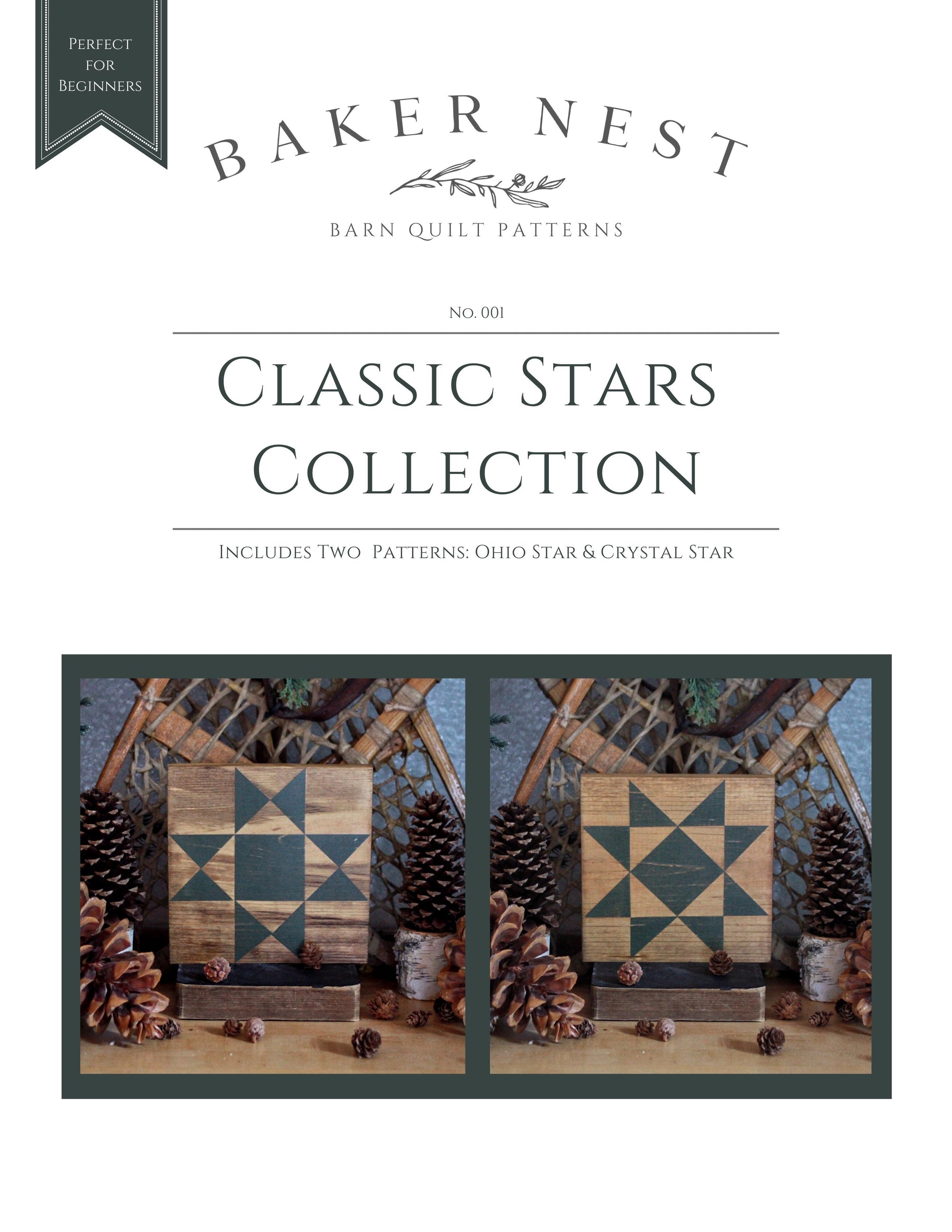 Classic Stars Collection Barn Quilt Pattern