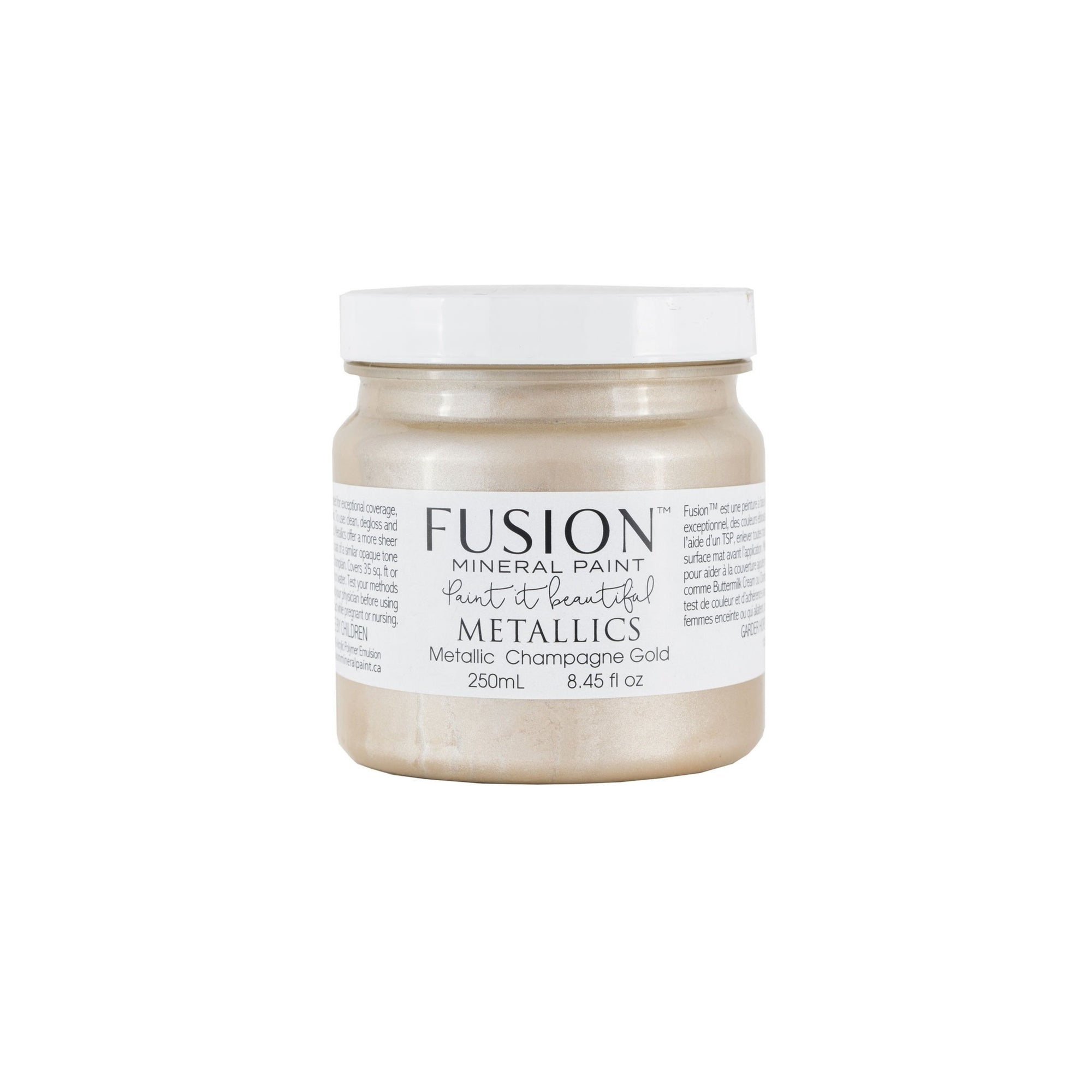 fusion mineral paint farmhouse inspired metallic champagne gold