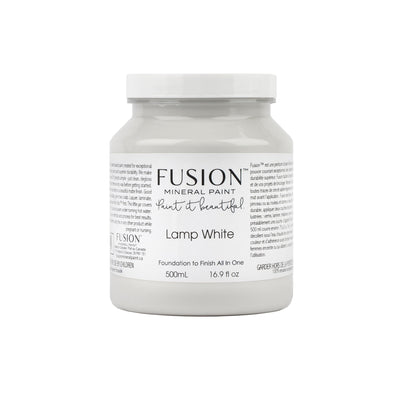 fusion mineral paint farmhouse inspired lamp white