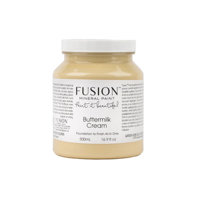 fusion mineral paint farmhouse inspired buttermilk cream