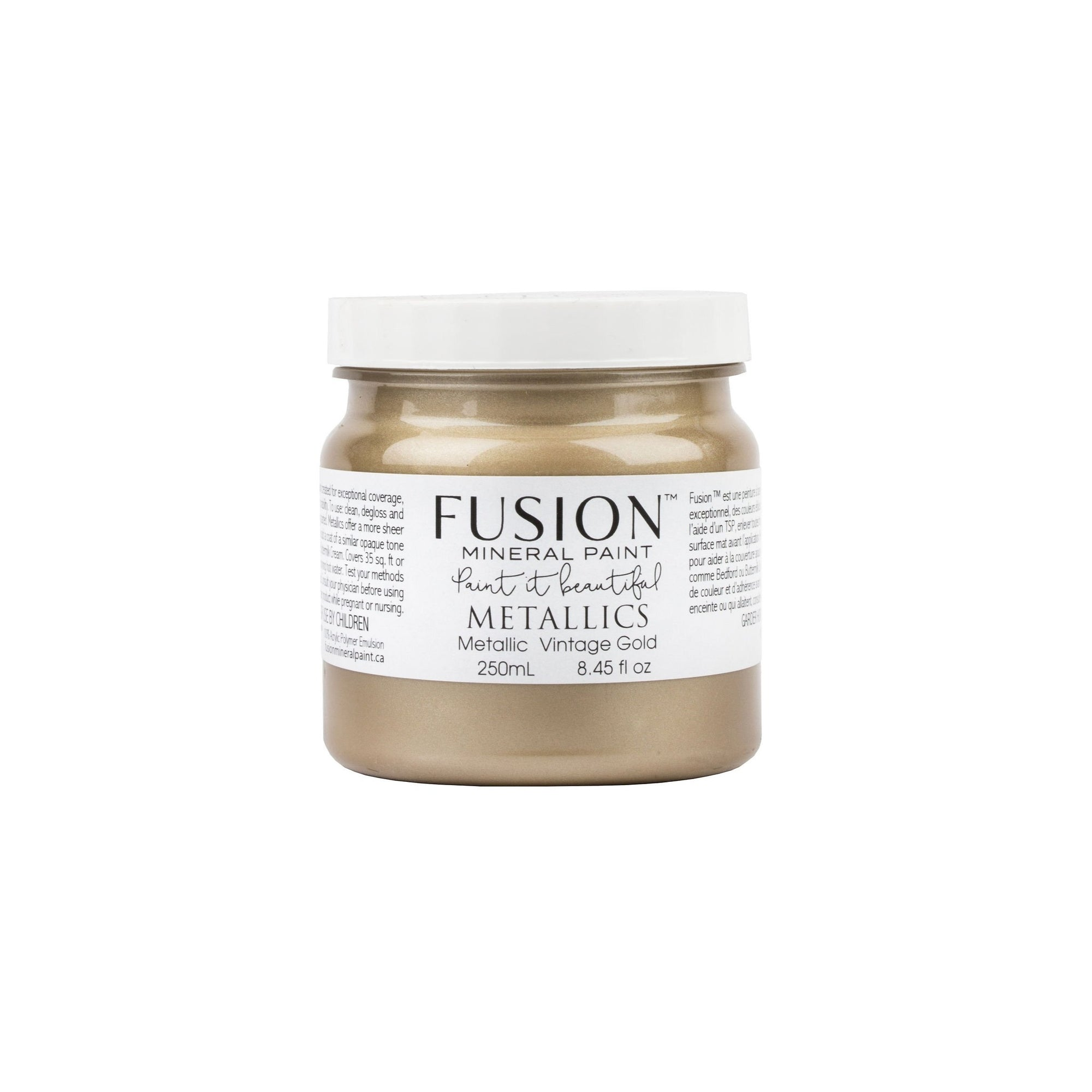 fusion mineral paint farmhouse inspired metallic vintage gold