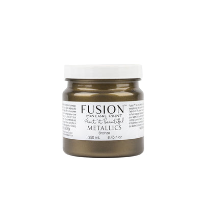 fusion mineral paint farmhouse inspired metallic bronze
