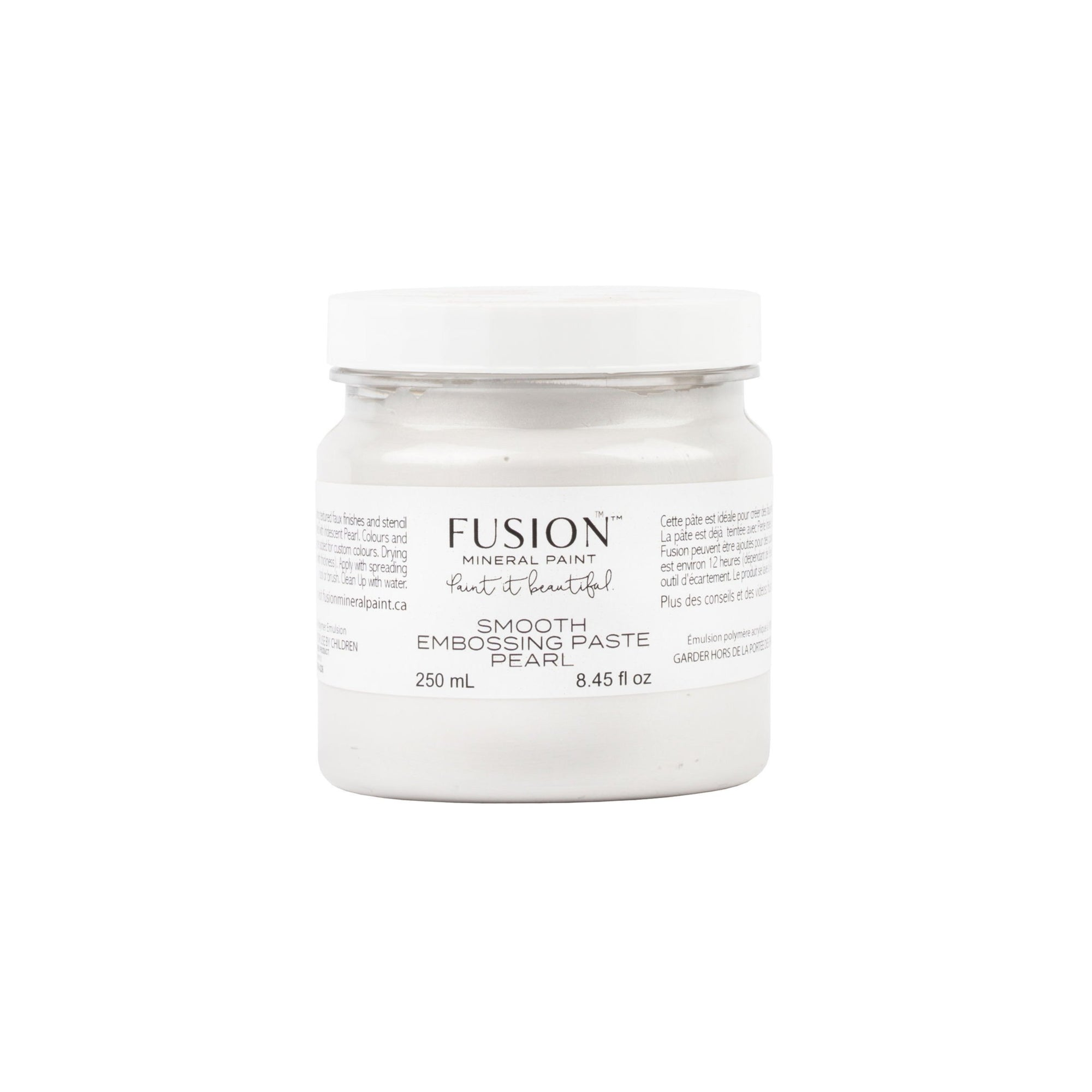 fusion mineral paint farmhouse inspired smooth embossing paste pearl diy