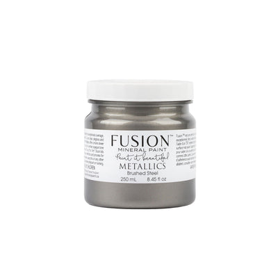 fusion mineral paint farmhouse inspired metallic brushed steel