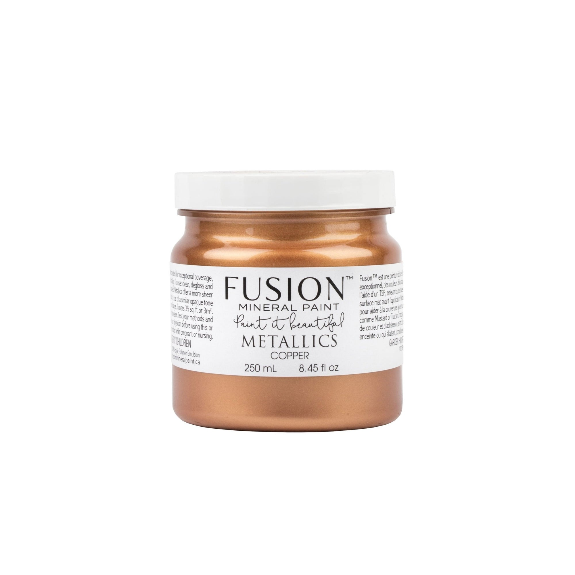 fusion mineral paint farmhouse inspired metallic copper