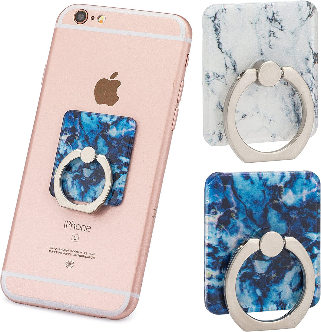 Two Pack Marble Ring Holder for Phone Grip | 360 Rotation | Stand/Holder | Kickstand | for iPhone X / 8/8 Plus / 7/7 Plus / 6S / 6S Plus/Galaxy S9 Plus and All Other Models