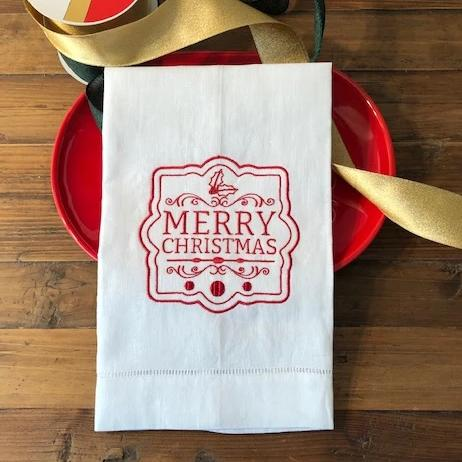 Merry Christmas Panel Guest Towel