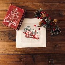 Load image into Gallery viewer, Santa's Sleigh Cocktail Napkins (Set of 2)