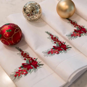 Holiday Corner Dinner Napkins (Set of 4)