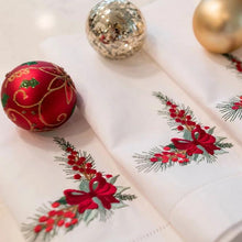 Load image into Gallery viewer, Holiday Corner Dinner Napkins (Set of 4)