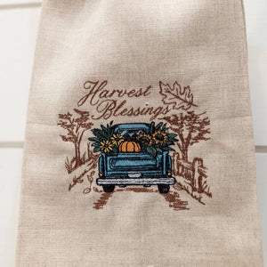 Harvest Blessings Guest Towel (Ecru)