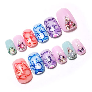 "PASTEL CALINOURS (I) - Ongles ""Press-On"" Gel / VINTAGE / Dead-Stock"