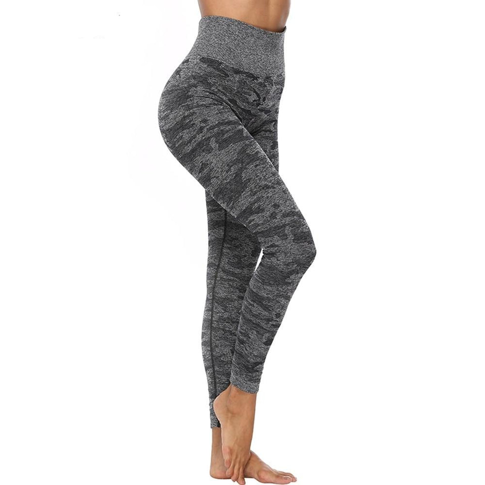 High Waist Seamless Leggings Push Up Elastic Leggins Sport Women Fitness Running Joga Pants Energy Gym Girl Camouflag Activewear