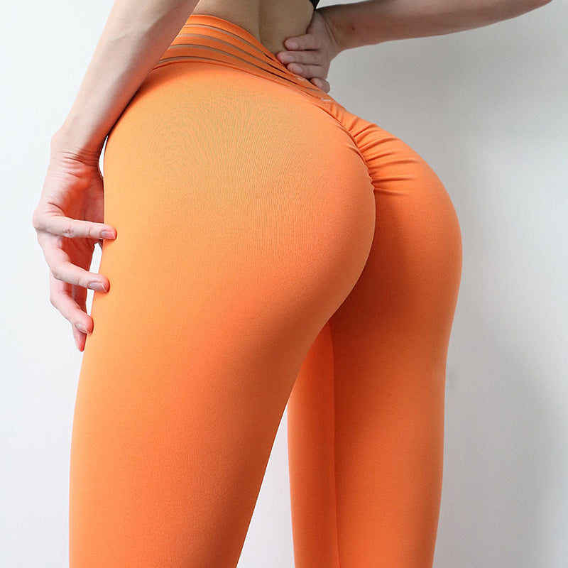 Sexy Women Push up Sports Fitness Pants Rubber Band Elastic High Waist Workout Gym Stretch Athleisure Legging