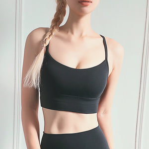 Sports Bra Sexy Women Fitness Top Vest Gym Push Up Seamless Joga Bras Shock-proof Running Sportwear Active Workout Top Underwear