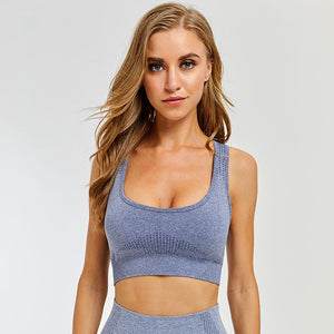 Sports Top Seamless Push Up Bras Gym