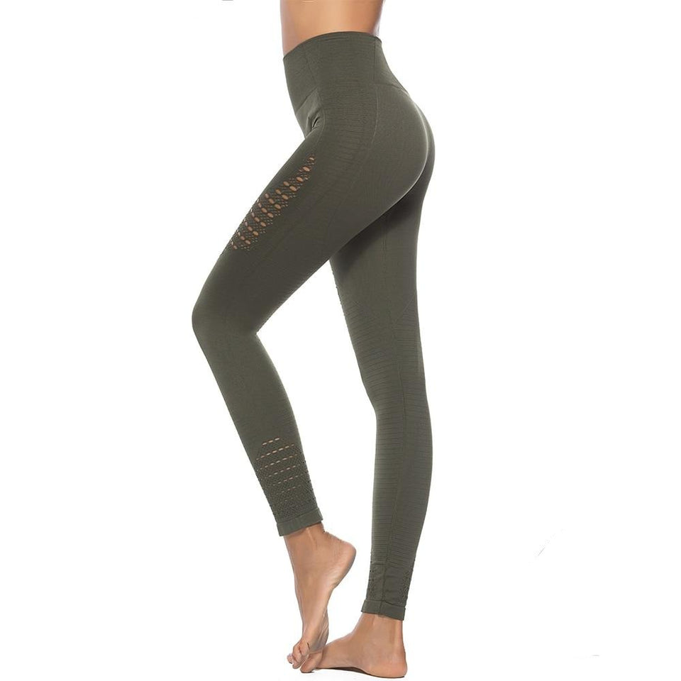 New Hot Multicolor Slim High Waist GYM Seamless Joga Pants Women Energy Hollow Out Fashion Fitness Leggings Workout Sportwear