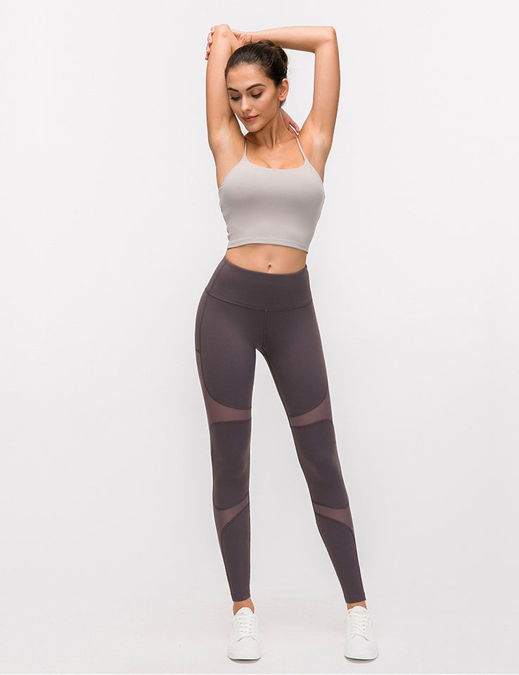 Leggings Women Athleisure Mesh Patchwork Compression Legging Breathable Sportswear