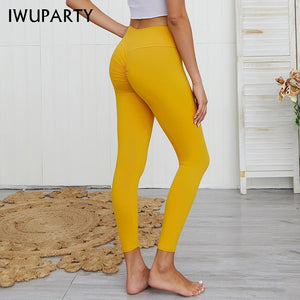 Sexy Nylon Cross Waist Leggings Women Fitness Pants Pushup Gym Clothes Stretch Athleisure Leggins