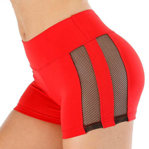 Women High Waist Mesh Fitness Sports Biker Shorts Summer Jogging Beach Sexy Athletic Casual Skinny Soft Stretchy Solid Shorts