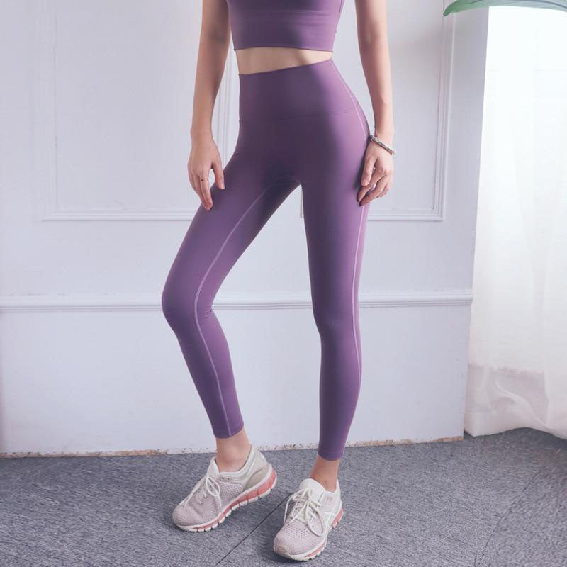 New Joga Pants Women Sports Clothes Gym Fitness Squat Proof Leggings Running High Waist 5 Colors Legging Sportswear Push Up