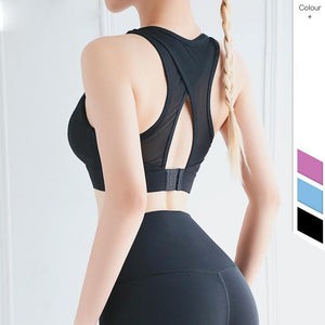 Sexy Women's Sports Bra Gym Fitness Workout Back Cross Fastening Joga Tops For Fitness Push Up Lingerie Running Fashion Clothing