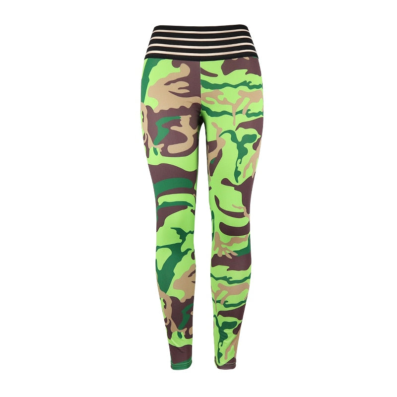 SPORTS LEGGINGS WITH FASHION CAMOUFLAGE