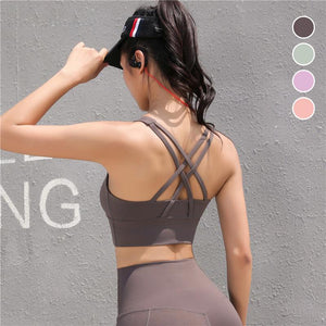 Sports Bra Women Vest Beauty Back Sexy Bratha Top Shock-Proof Gathering High-Intensity Sport Joga Underwear Seamless Fitness Bra