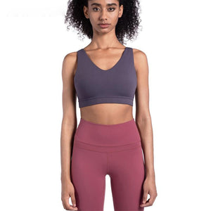 Seamless Sport Bra Fitness Joga Vest BackCross Women Elastic Tube Tops Breathable Push up Gym Shockproof  Shirt Athletic Running