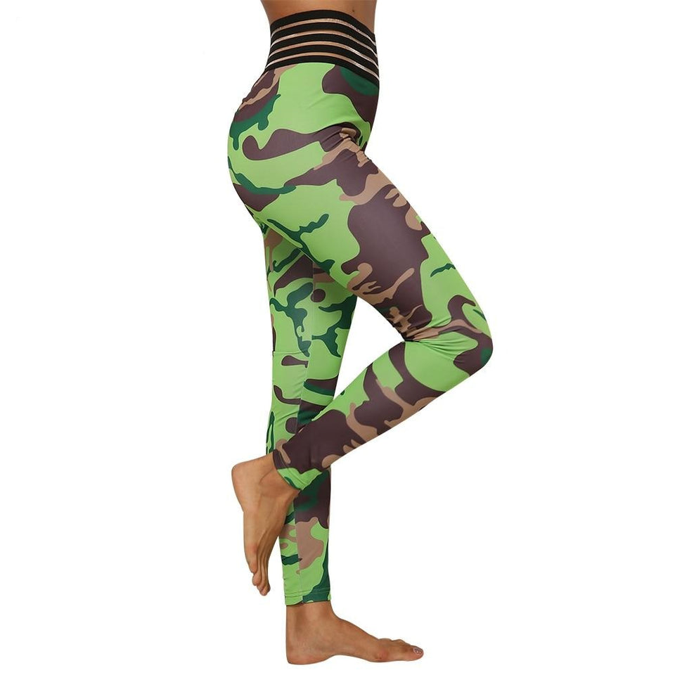 Fashion Camouflage Printed Sport Leggings Fitness Feminina Women Workout Leggings Push Up Joga Pants gym Leggins Mujer Clothes