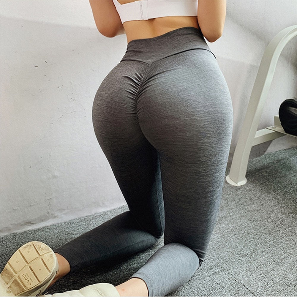 High Cross Waist Seamless Leggings Women Fitness Trousers Scrunch Butt Leggings Push Up Joga Pants Trainning Workout sportwear